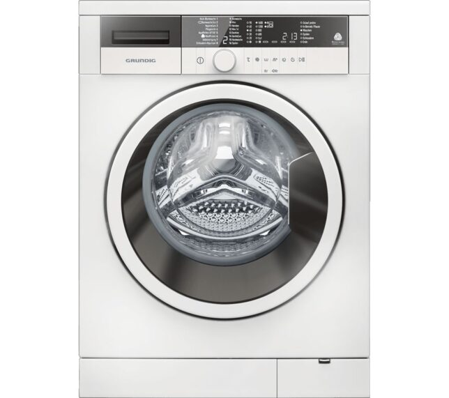 Competition to Win a GRUNDIG GWN37430W 7 kg 1400 Spin Washing Machine - White