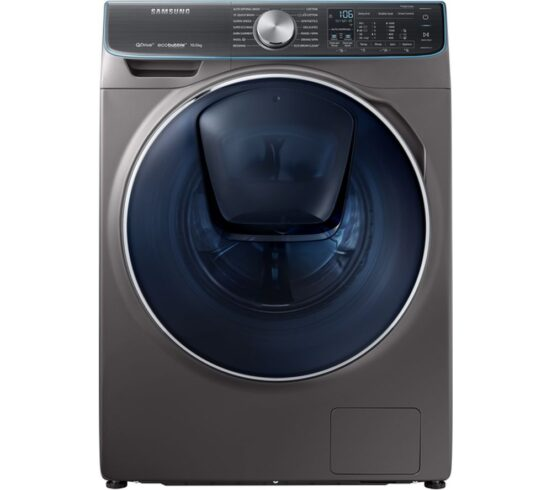 Win SAMSUNG QuickDrive + AddWash WW10M86DQOO Smart 10 kg 1600 Spin Washing Machine - Graphite