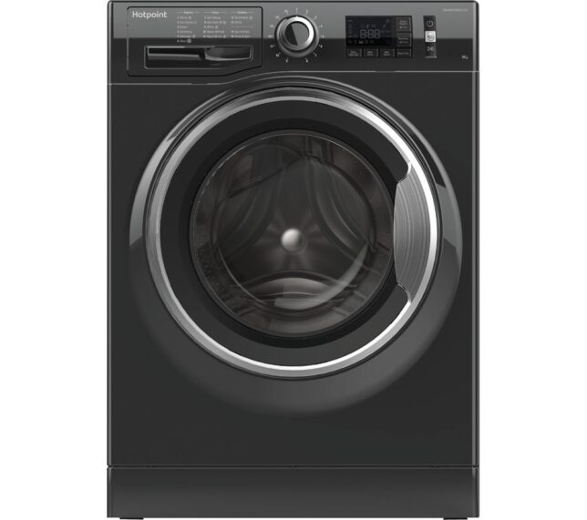 Win HOTPOINT ActiveCare NM11 946 BC A UK 9 kg 1400 Spin Washing Machine - Black