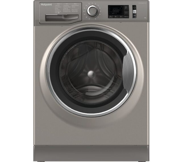 Win HOTPOINT ActiveCare NM11 946 GC A UK 9 kg 1400 Spin Speed Washing Machine - Graphite