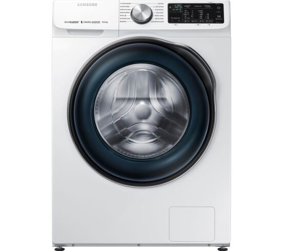 Win SAMSUNG ecobubble WW10N645RBW/EU Smart 10 kg 1400 Spin Washing Machine - White