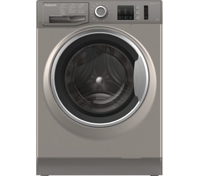 Competition to Win a HOTPOINT NM10 844 GS 8 kg 1400 Spin Washing Machine - Graphite