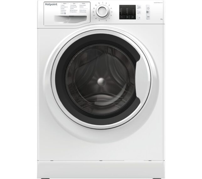 Competition to Win a HOTPOINT NM10 844 WW UK 8 kg 1400 Spin Washing Machine - White