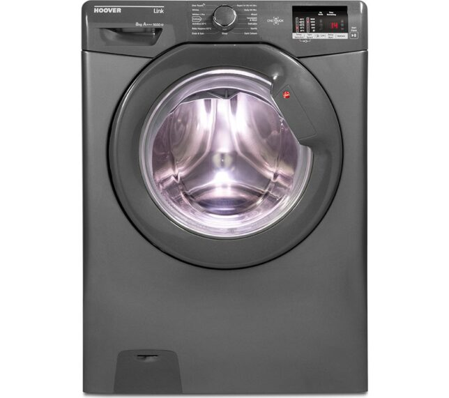 Win HOOVER Link DHL 1682D3R NFC 8 kg 1600 Spin Washing Machine - Graphite