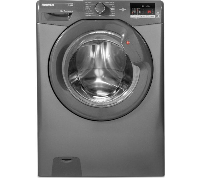 Win HOOVER Link DHL 1482D3R NFC 8 kg 1400 rpm Washing Machine - Graphite