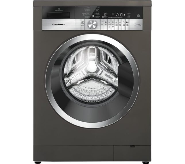 Competition to Win a GRUNDIG GWN48430CG 8 kg 1400 Spin Washing Machine - Graphite