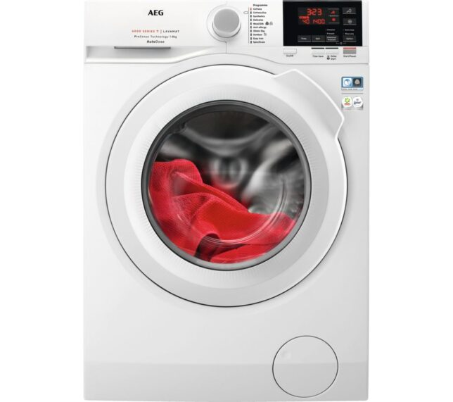 Competition to Win AEG AutoDose 6000 Series L6FBG841CA WiFi-enabled 8 kg 1400 Spin Washing Machine - White