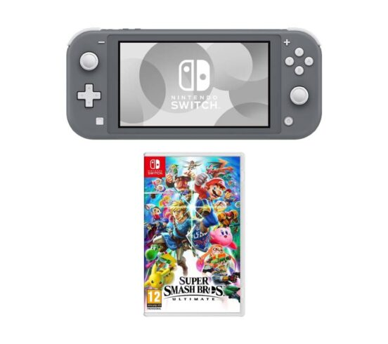Competition to Win a NINTENDO Switch Lite & Super Smash Bros. Ultimate Bundle - Grey