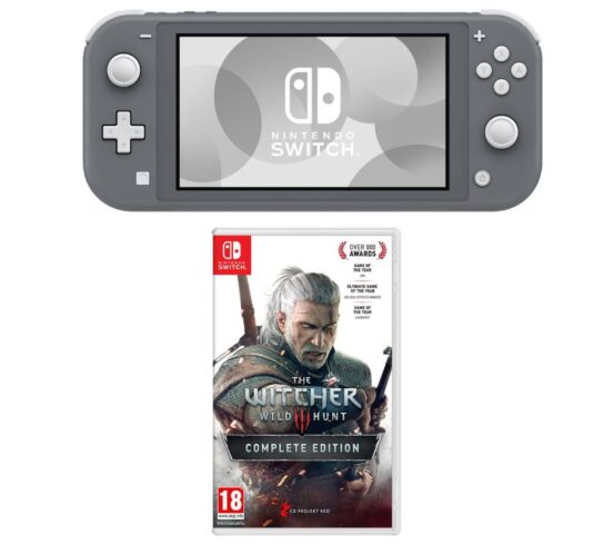 Competition to Win a NINTENDO Switch Lite & The Witcher 3: Wild Hunt Bundle - Grey