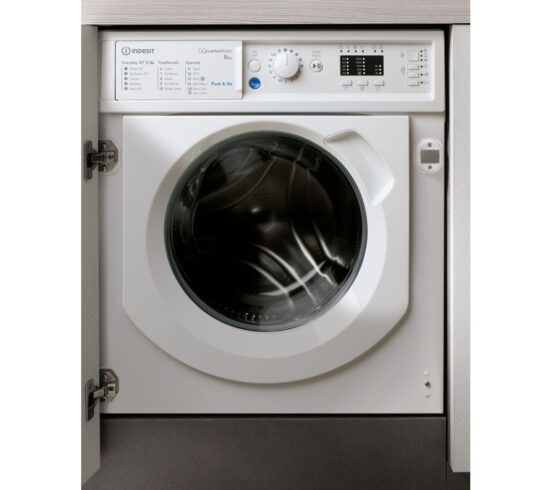 Competition to Win INDESIT BIWMIL81284 Integrated 8 kg 1200 Spin Washing Machine