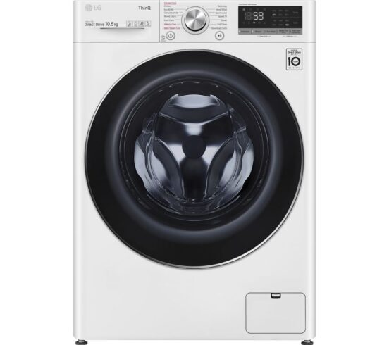 Competition to Win a LG TurboWash with AI DD V7 F4V710WTSE WiFi-enabled 10.5 kg 1400 Spin Washing Machine - White