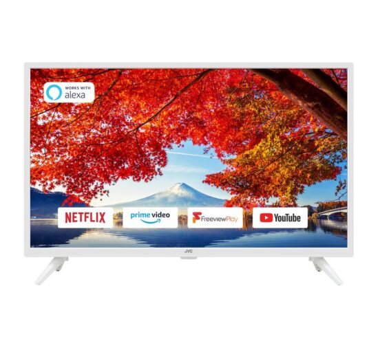 """Competition to Win a JVC LT-32C601 32"""" Smart HD Ready HDR LED TV - White"""