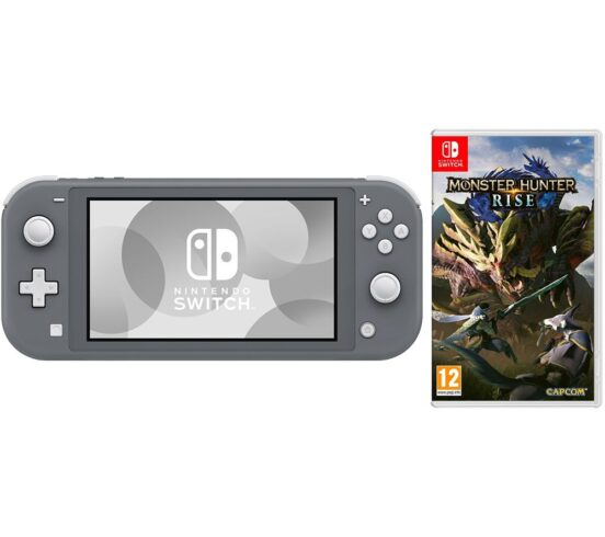 Competition to Win a NINTENDO Switch Lite & Monster Hunter Rise Bundle - Grey